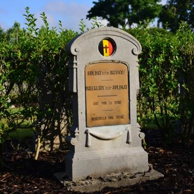 An unknown soldier buried at Keiem