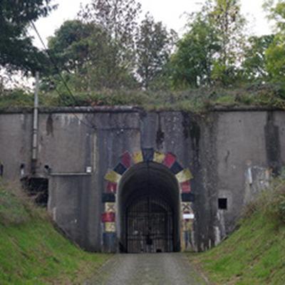 Vue actuelle sur l'entrée du Fort d'Embourg