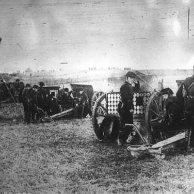 Artillerie belge autour de Liège